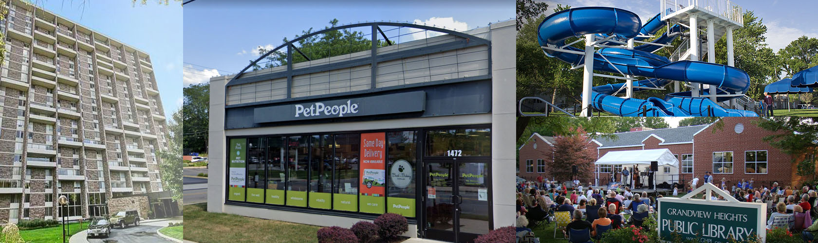 Pet People store collage in Grandview Heights